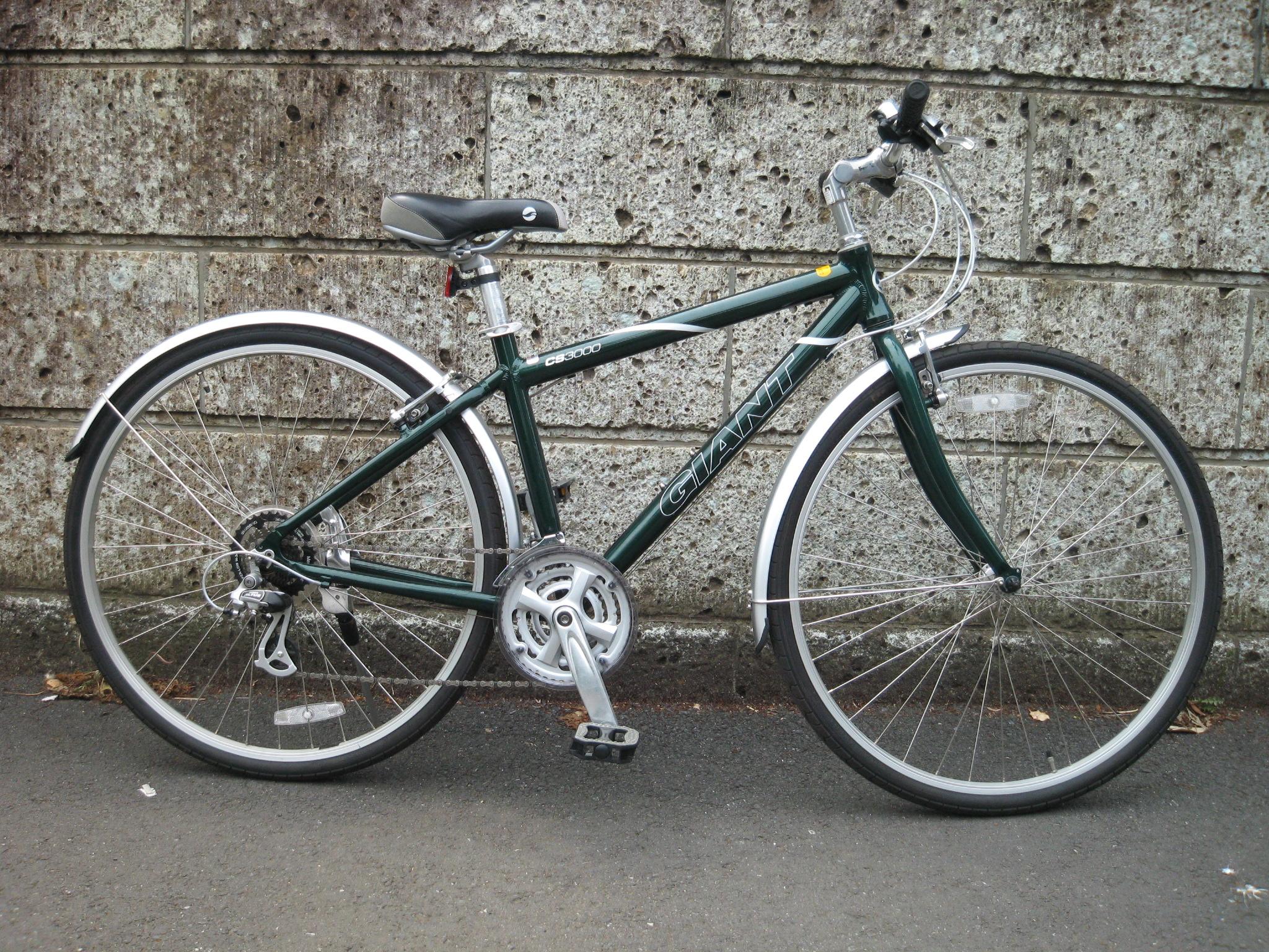 自転車の 自転車 フォーク アルミ クロモリ : GIANTの中古クロスバイクCROSS 3000 ...